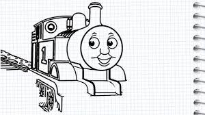 draw thomas tank engine