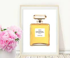 chanel wall art coco chanel perfume printable art perfume zoom
