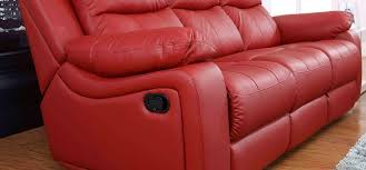 Leather Sofas Montreal Montreal Rosso Red Reclining 3 2 Seater Leather Sofa Set