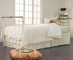 iron u0026 brass sleigh daybed antique white shabby chic style