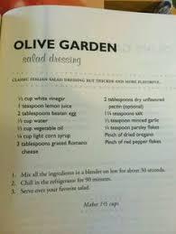 olive garden salad dressing recipe misc recipes pinterest