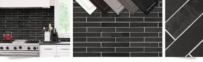 Black Slate Mosaic Kitchen Backsplash Tile Backsplashcom - Black backsplash