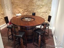 Wine Barrel Bar Table Wine Barrel Bistro Table Vought Wooden Furniture