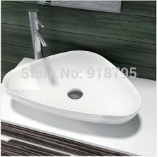 top corian triangular bathroom solid surface counter top vessel sink
