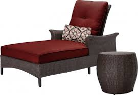 Patio Chaise Lounge Chair Hanover Gramercy Outdoor Chaise Lounge Chair And Table Set
