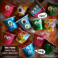 fun halloween craft monster pudding cups dash of evans