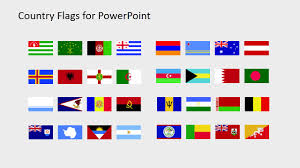 World Map Country Flags Country Flags Catalog From A To B Powerpoint Slide Slidemodel