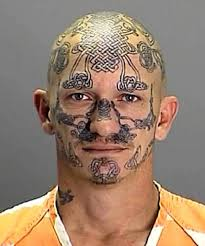 21 mugshot tattoos that will creep you the heck out especially 11
