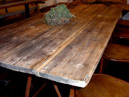 Old Wooden Table And Chairs Industrial Saw Horse Table And Vintage Metal Chairs Hudson Goods