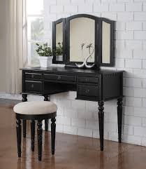 Lighted Make Up Vanity Bedroom Vanity Mirror Lighted Makeup Vanity Table Set Black
