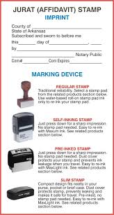 Arkansas travel products images Arkansas notary public jurat stamps and affidavit stamps jpg
