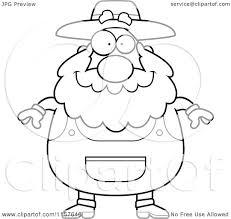 cartoon clipart of a black and white plump senior farmer vector