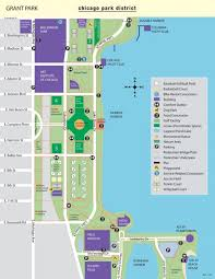 taste of chicago map grant park chicago map map of grant park chicago united states