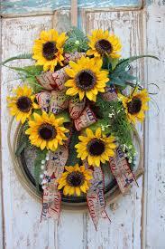 texas sunflower western wreath lasso cowboy rodeo bull