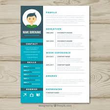 graphic designer resume template graphic designer cv template vector free