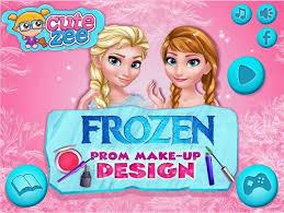 create a makeup for elsa and anna cutezee frozen prom makeup design frozen games princess elsa