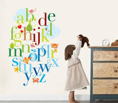Best Wall Art Images On Pinterest Wall Stickers Kids Rooms - Alphabet wall decals for kids rooms