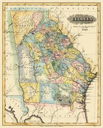 Georgia River Map Old State Map Georgia Lucas 1823