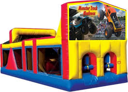 monster truck jam party supplies monster truck madness obstacle combos tall slides secret