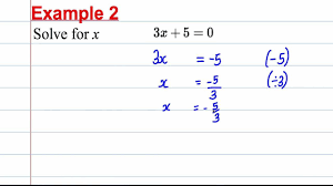 gcse maths revision solving linear equations 1 youtube