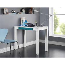 Minimalist Work Desk Altra Furniture Delilah White And Teal Desk With Storage