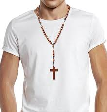 rosary shop brown jatoba wooden catholic rosary necklace with cross