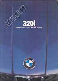 bmw 320i brochure foreign auto bmw 1982 bmw 320i sales brochure