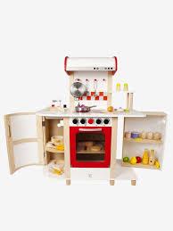 cuisine en bois vertbaudet grande cuisinette en bois hape multicolore hape