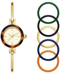 bangle bracelet watches images Tory burch women 39 s gigi gold tone stainless steel bangle bracelet tif