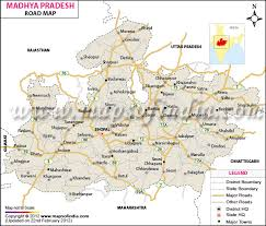 map in road map of madhya pradesh
