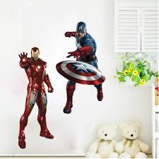 avengers home decor 3d effect the avengers iron man captain america wall sticker wall