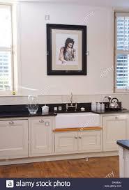 belfast sink kitchen picture above belfast sink in white painted unit in modern white