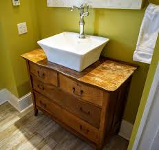 custom bathroom vanity from old dresser u2013 when the baby sleeps