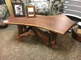 717 coffee table walnut wood driftwood base recycle
