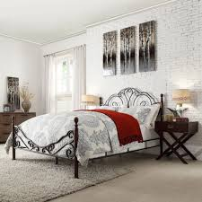 bedroom attractive scroll bronze iron bed frame elegant to any
