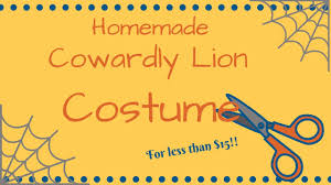 lion costume wizard of oz diy cowardly lion wizard of oz costume youtube