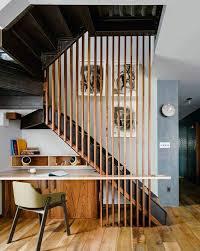 sous bureau design optimisez avec style l espace souvent perdu sous les escaliers