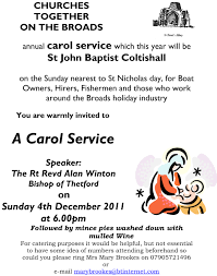 carol service churches together on the broads