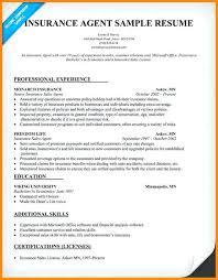 insurance sample resume insurance agent resume agent resume sample