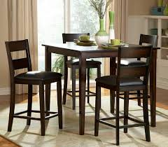 Rustic Dining Room Table Sets by Counter Height Rustic Dining Room Set With Bench Wood Is Dark Oak