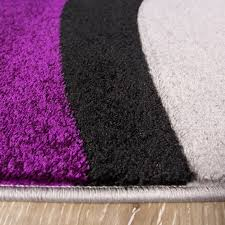 Large Purple Rugs Contemporary Purple U0026 Black Wave Living Room Rug Rio Kukoon