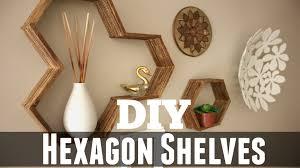 Diy Honeycomb Shelves by Diy Honeycomb Hexagon Shelves Youtube