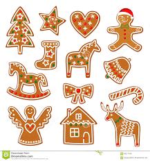 christmas cookies collection with gingerbread and cookies figures