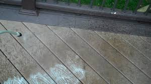 how to clean a composite deck wmv youtube
