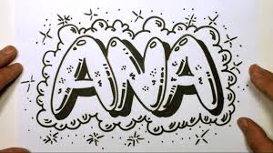 how to draw graffiti letters write ana in bubble letters mat