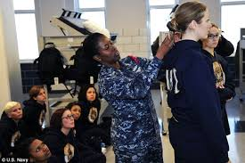 forced to get female hair style navy to stop cutting the hair of female recruits short upon