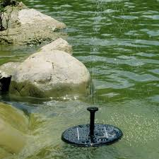 outdoor solar pond fountain floating lily water fountain decor kit