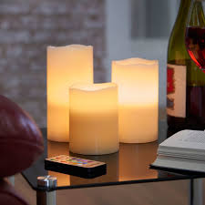 vonhaus 3 flameless candle set reviews wayfair