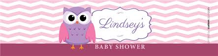 owls baby shower pink owl baby shower water bottle labels icustomlabel