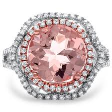 pink morganite 3 66 carat pink morganite e vs2 diamond halo split